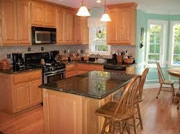 Simple Kitchen Island Black Brushed Block Board Kitchen Island Big Standing Glass