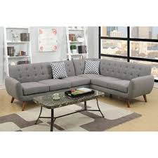 Grey Sofa With Chaise Modern Grey Sectionals Allmodern