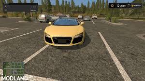 Audi R8 Yellow - audi r8 spyder yellow mod farming simulator 17