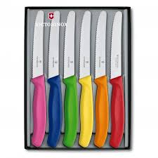 victorinox kitchen knives set i a set of these with black handles and they are fantastic