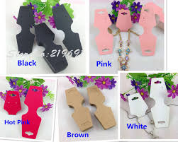 colored necklace display images 200pcs lot wholesale kraft cardboard necklace card multi colored jpg