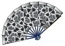 black lace fan fan clipart black and white clipartxtras
