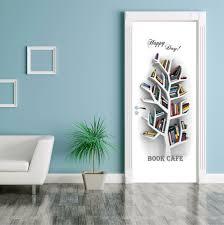 book cafe door contact paper wall sticker