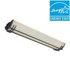 flush mount fluorescent kitchen lighting hampton bay saguro 4 light russet fluorescent ceiling flushmount