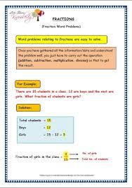 grade 3 maths worksheets 7 9 fraction word problems lets