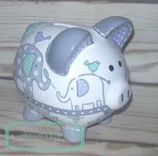 Personalized Silver Piggy Bank Personalized Piggy Bank Custom Hand Painted By Samseldesigns