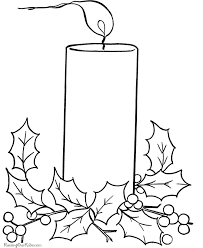 free christmas coloring pages candles