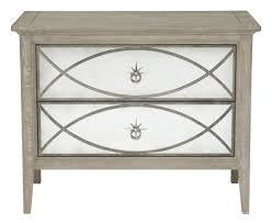 bernhardt marquesa 2 drawer nightstand in gray cashmere finish 359