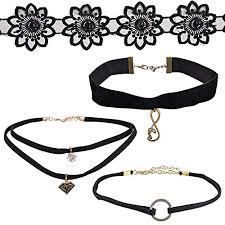 charm necklace choker images Stylish black choker charm necklace for women_black choker jpg