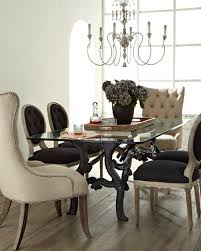 linen chairs furniture stockard dining table donabella tufted chairs