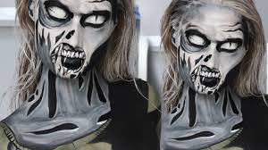 the walking dead comic zombie makeup tutorial youtube
