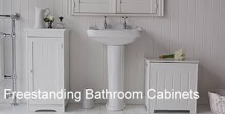 Freestanding Bathroom Furniture White Glamorous Stand Alone Bathroom Cabinets On Free Standing Storage