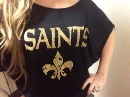 new orleans saints inspired flowy shirt