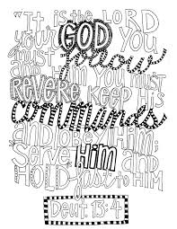 deuteronomy 13 4 free coloring page u2013 from victory road