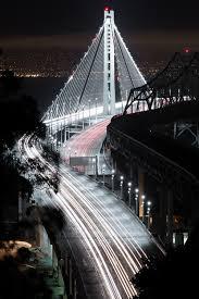 Bay Bridge Lights Love Art Lights Night Architecture California Land New Bridge San