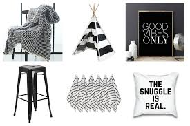Monochrome Home Decor 22 Black And White Home Decor Pieces You U0027ll Love Thirty Eighth