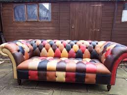 Real Chesterfield Sofa by New Real Leather Chesterfield Belmont Hand Crafted 3 Seater Sofa