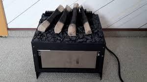 diy artificial fireplace insert water steam youtube