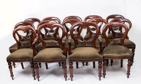shield back dining room chairs set 14 victorian style balloon back dining chairs with carved shield