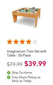 imaginarium train set with table 55 piece imaginarium train set with table 55 pieces only 39 99 reg