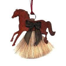 horsehair christmas ornaments at horse tack co