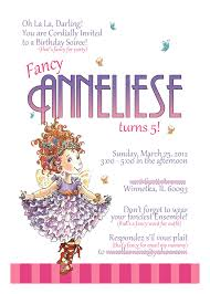 fancy nancy invitation