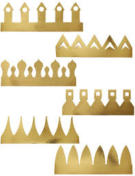 6 golden gold party crown hat king queen drama play art craft