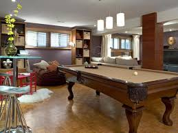 admirable basement pool table with wooden frame and cream top over