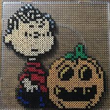 peanuts halloween perler beads by anko1837 bead craft hama