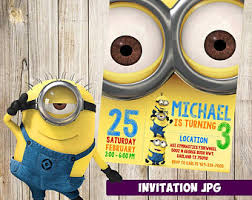 diy minion invitations minion centerpiece etsy