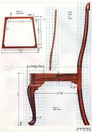 Diy Furniture Plans by 1172 Queen Anne Side Chair Plans Furniture Plans Plantilla