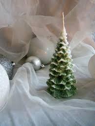 christmas tree candle christmas table decor christmas candle