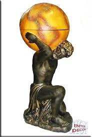 Joki Wohnzimmer Bar Griechischer Minibar Atlas Bar Vitrine Figur Skulptur Globus Welt