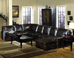 leather sectional sofa recliner black brown couch with recliners
