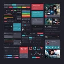 Two Dark Ui - 15 free modern dark psd web ui kits web graphic design bashooka