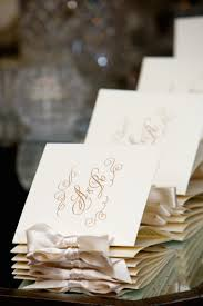 Wedding Programs With Ribbon Invitations More Photos Elegant Wedding Programs Tied With
