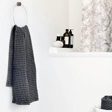 Scandinavian Bathroom Accessories by Ferm Living Organic Waffle Hand Towel 3 Colours Organic