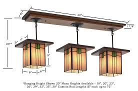 pool table light size craftsman light fixture 506 mission studio