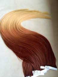 Red Tape Hair Extensions by 100g Seamless Tape In Hair Extensions Balayage Dark Auburn To