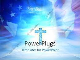 powerpoint template a holy cross with american flag in the