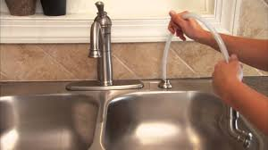 installing a single handle kitchen faucet step 13 install