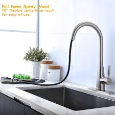 Lead Free Kitchen Faucets Check The Reviews Of Shaco S Nickel Lead Free Kitchen Faucet