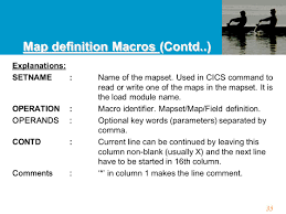 Map Key Definition 1 Cics Customer Information Control System 2 Table Of Contents