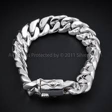 mens black link bracelet images 20mm silver cuban bracelet jpg