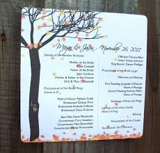 Personalized Wedding Programs Fall Leaves And Tree Personalized Wedding Programs 30 Fall
