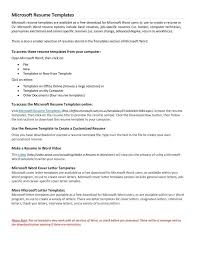 Microsoft Word Resume Templates 2007 Create And Download Free Resume Resume Template And Professional