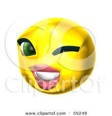 Wink Face Meme - make meme with girl winking smiley face clipart