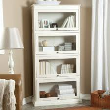 White Bookcase Glass Doors by Tall Bookshelves With Doors American Hwy