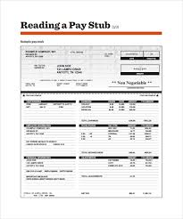 sample pay stub template 24 download free documents in pdf