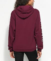diamond supply co mini og sign burgundy hoodie zumiez